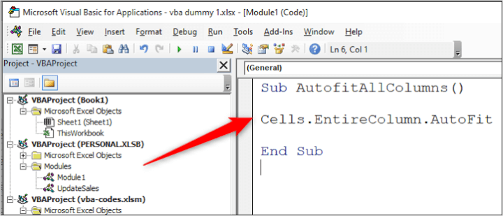 VBA Code Library - Code Window