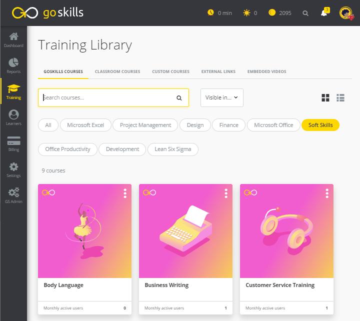Soft skills training - GoSKills LMS