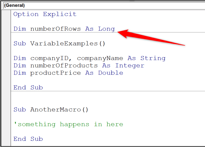 VBA variable types - module scope