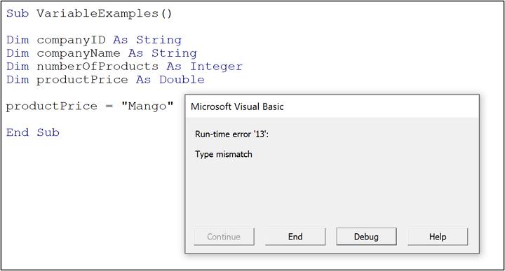 VBA variable types - mismatch