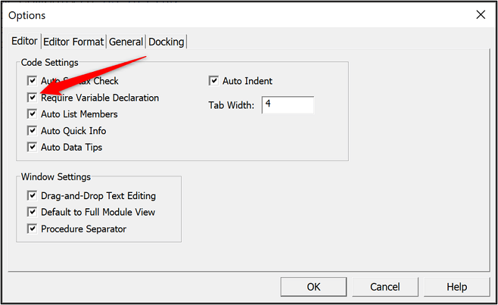 VBA variable types - require variable declaration
