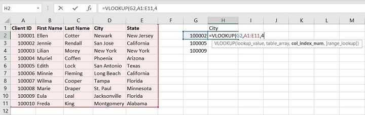 Vlookup Exact and Approximate match - col index
