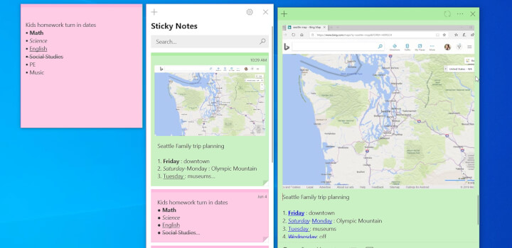 Best note taking app - Windows Sticky Notes