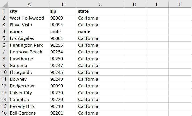 Sorting in Excel - multi row header