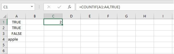 COUNTIF Excel - Boolean