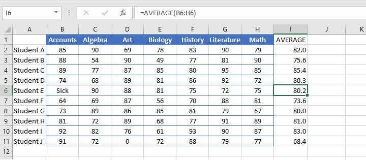 How to calculate average in Excel - Remarks