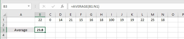 How to calculate average in Excel - median