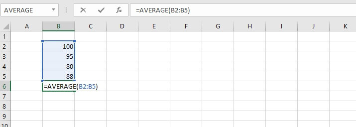 How to calculate average in Excel