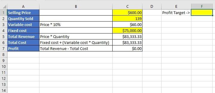 Excel Goal Seek - macro