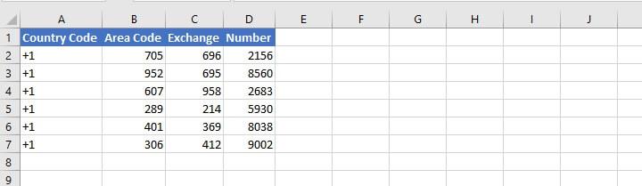 Concatenate Excel