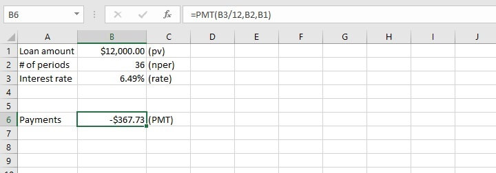 pmt function Excel - IPMT function