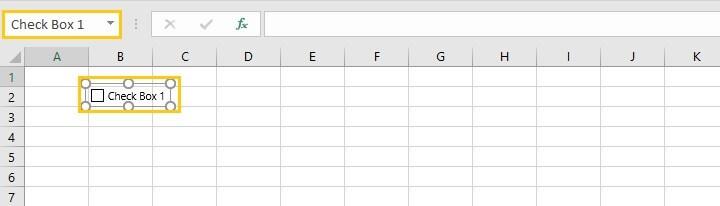 Excel checkbox