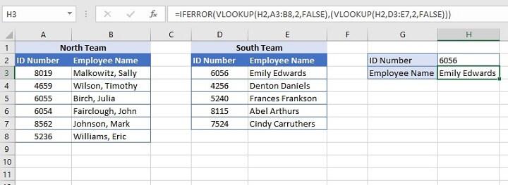 IFERROR Excel - Sequential VLOOKUPs