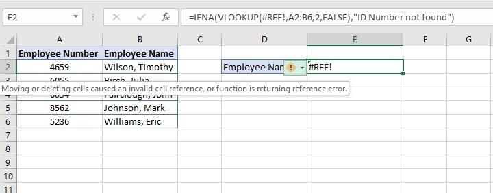 IFERROR Excel - IFERROR vs IFNA