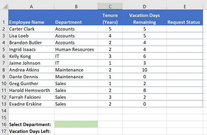 Excel challenge 6