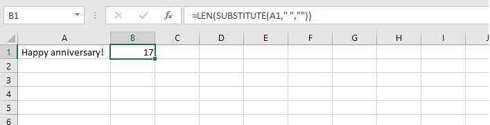 LEN function Excel