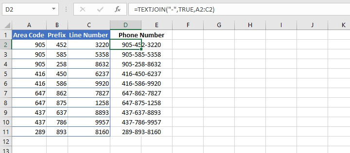How to merge cells in Excel
