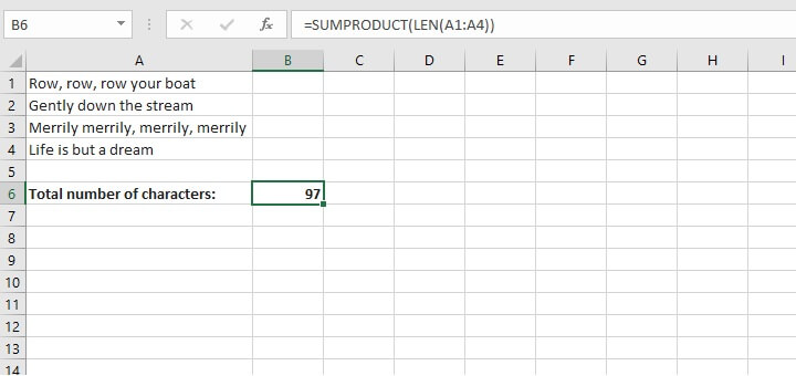 Excel sumproduct