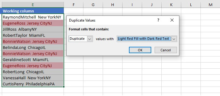 Find duplicates in Excel