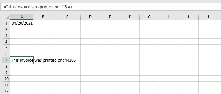 Excel TEXT function