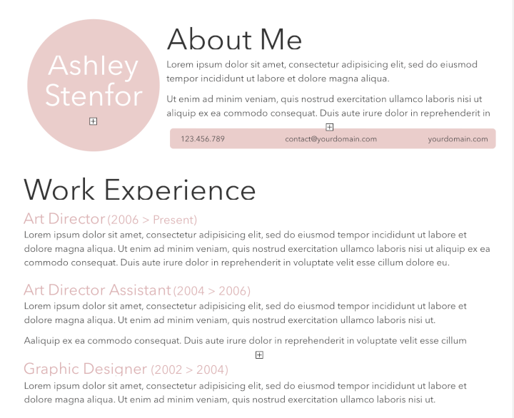 Light Pink Resume Template