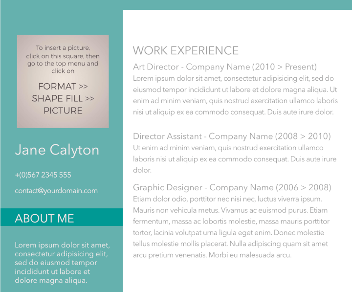 Fancy Emerald Resume Template